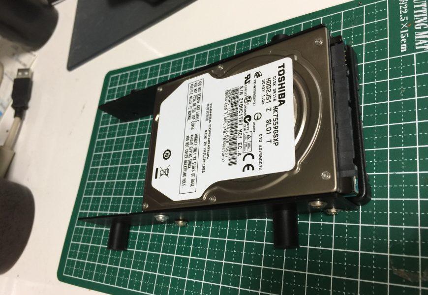 [SSD化] 省スペースパソコン(lenovo H530s)のSSD化とセカンドドライブにHDD増設 その2