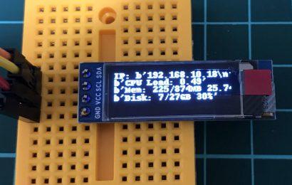 [ラズパイ] 有機EL(OLED) SSD1306を使って文字・日本語を表示させる