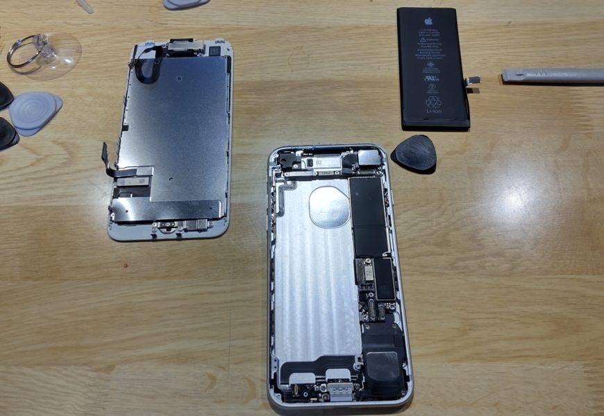 [DIY修理][iphone] iphone7のバッテリーとイヤースピーカーの交換